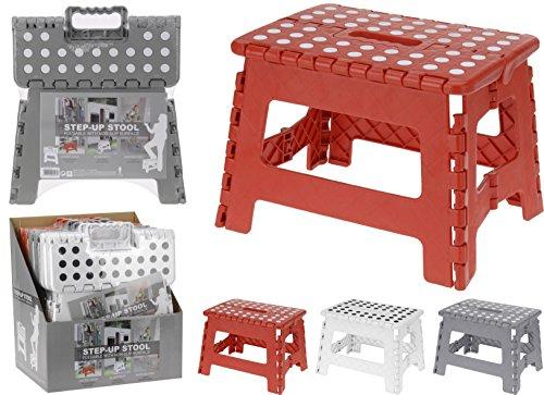 Klappbarer Holz-box (Klapptritt Klapphocker Hocker 1 Stufe Haushaltsleiter Einstieg Trittstufe (Rot))