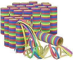 Idea Regalo - com-four® 25x Rotoli Stelle filanti in Diversi Modelli Come Decorazione per Feste di Compleanno - Serpenti di Carta per la Notte di San Silvestro (25 Pezzi - Stelle filanti)