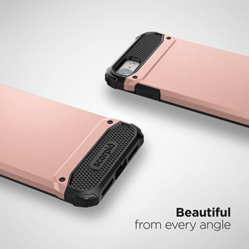"iPhone 7 Case (Scorpio R7) Premium Protection Cover w/ Screen Guard - iPhone 7 4.7"" (Periwinkle Purple) Rose Gold"