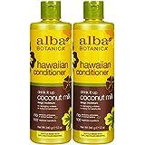 Alba Botanica Hawaiian Extra Rich Hair Conditioner, Coconut Milk, 12 Oz, 2 Pk
