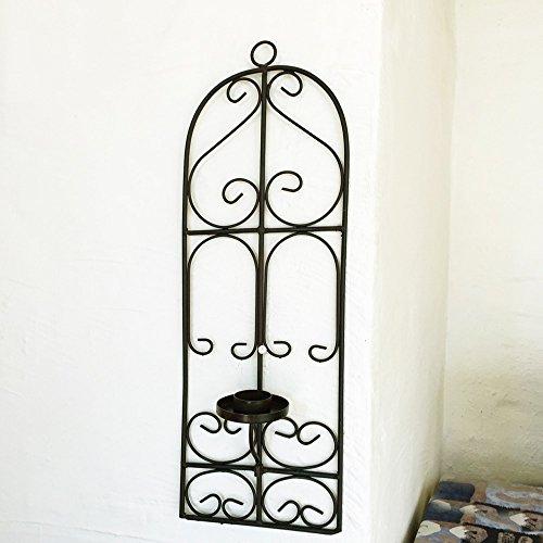 Antikas - reja oriental de hierro forjado con candelero soporte velas -...