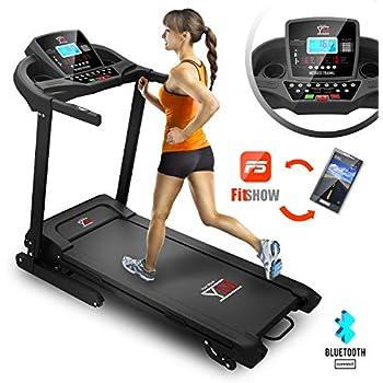 Cinta de correr eléctrica plegable con sensor cardíaco, potencia ...