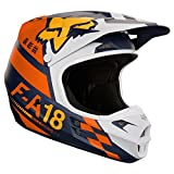 Fox casque en V 1 sayak, Orange, Taille M