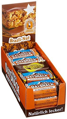 flapjack riegel Energy OatSnack, Mix Box - alle Geschmacksrichtungen, natürliche Riegel - von Hand gemacht, 3 x 70 g und 12 x 65 g, 1er Pack (1 x 990g)