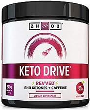 KETO DRIVE with BHB Ketones + Caffeine, Patented Beta-Hydroxybutyrates & Electrolytes (Calcium, Sodium, Ma