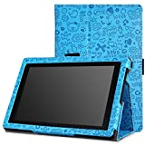MoKo All-New Kindle Fire HD 7 Case - Sottile Pieghevole Cover Custodia per Amazon All-New Fire HD 7.0 Inch 2013 Gen Tablet, Carino Charm BLU (Con Smart Cover Auto Sveglia / Sonno)