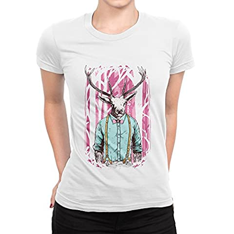 Smart Casual Deer Wandering In The Pink Woods Femme T-shirt L