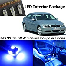 Classy Autos BMW 3 Series ULTRA BLUE LED Lights Interior Package Kit M3 E46 (9 Pieces) by Classy Autos