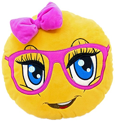 13X13X2 Inch , Cute Girl : New Emojis New Smiley Emoticon Cushion Pillow  Stuffed Plush Toy Doll Poop Emoji Face Bed Pillow Home Living Room  Decoration