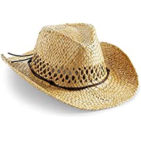 Cappello da cowboy, cappello estivo, cappello in paglia, naturale