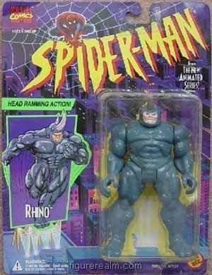 Spider-Man TAS Head Ramming Rhino action Figure by Toy Biz