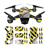 Hzjundasi Cuerpo+Brazo+Remoto Controlador+3*Batería Impermeable 3M Pegatina Calcomanía Sunscreen Calcomanía Piel Set para DJI Spark Drone Modelo ZA07