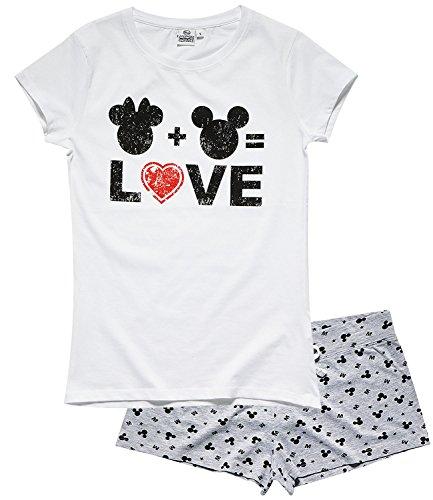 Disney Minnie Damen Shorty-Pyjama - weiß Weiß