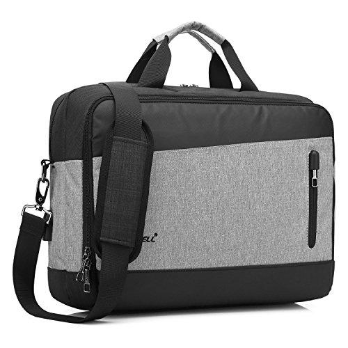 CoolBELL 15,6 Zoll Laptop Tasche mit USB Anschluss multifunktionale Umhängetasche Messenger Bag Business Schultertasche Schützend Nylon Aktentasche Nylon Handtasche für Laptop / Ultrabook / Tablet / MacBook / Männer / Frauen (Schwarz)