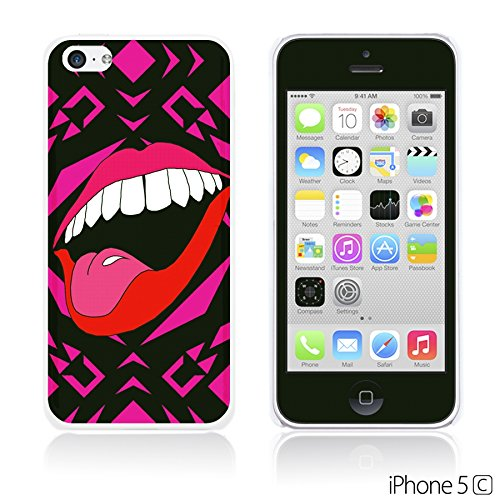 OBiDi - Funny Pattern Hardback Case / Housse pour Apple iPhone 5C - A TO Z Red Lip