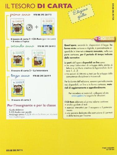 Il tesoro di carta. Antologia. Con Mito ed epica. Ediz. gialla. Per la Scuola media. Con CD-ROM. Con espansione online: 1