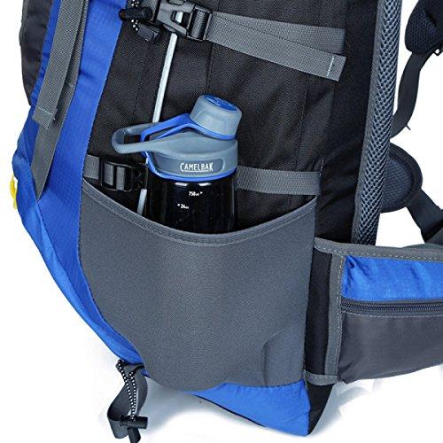 Zaino Zaino Escursionismo Alpinismo All'aperto Viaggiare Casual Daypack Borsa Ad Alta Capacità,DarkBlue Blue