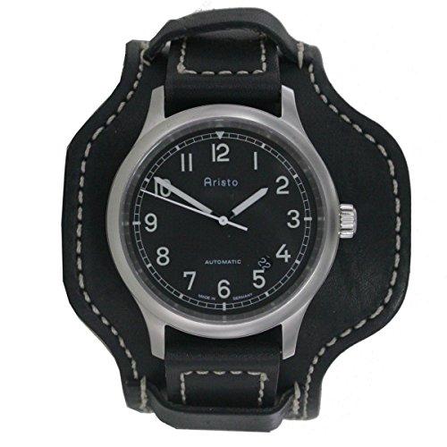 Aristo Reloj de hombre reloj de pulsera Automatic Old School 3h155piel