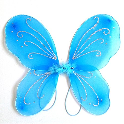 ROYALS Fairy Butterfly Wings Costume for Baby Girl Angel for Birthday Party (Blue colour)