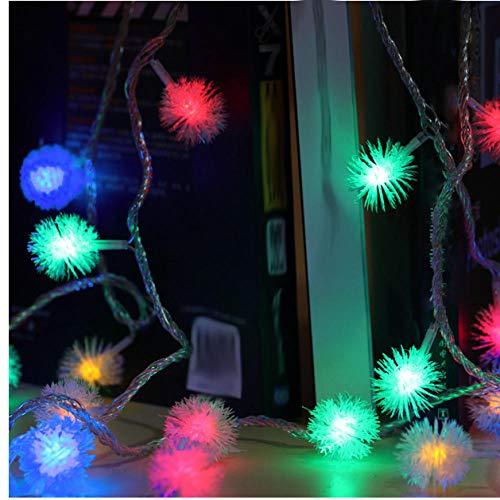 Pendelleuchten Hänge,Kronleuchter,Festliche Lichter,Dekorative Weihnachtslichter 5M40Led Schneeball Form Partywand,Usb-Powered,Farbiges Licht (Einfach Zu Hängen Kronleuchter)