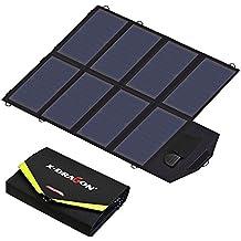 Solar Ladegerät, X-DRAGON 40W SunPower Faltbar Solar Panel Outdoor Ladegerät (5V USB + 18V DC) für Laptop, Tablet, iPhone, ipad, Samsung, Android Smartphones