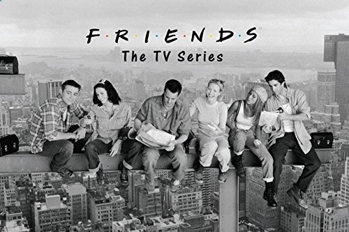 /Kunstdruck Friends TV Show On a Beam Over New York Rachel Joey Phoebe Monica Chandler Ross 91,4 x 61 cm ()