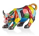 'Coco Maison kämp Fender Estatua Decoración, Toro Toro Figura en un diseño Moderno Pintado a Mano Escultura de polirresina, Bull Fighter Sculpture-Figura tamaño 90x 24x 39cm