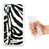 WoowCase Wiko Selfy 4G Hülle, Handyhülle Silikon für [ Wiko Selfy 4G ] Tier Zebradruck Handytasche Handy Cover Case Schutzhülle Flexible TPU - Transparent