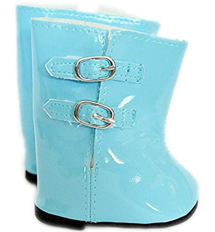 LIGHT BLUE RAIN BOOTS FOR AMERICAN GIRL DOLLS AND BITTY TWINS-18 INCH DOLL CLOTHES