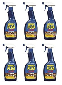 6 Bottles of PestShield - Household Flea Killer - 500ml - Trigger Bottle