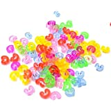 Loom dreamTM-NEW Amazing Loom Bands Pack of 125 Colorful C-Clips BZ0028