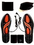 Beheizbare Einlegesohlen Thermosohlen mit Zwei Warmstufen, Größe: 36-47(zuschneidbar), waschbar