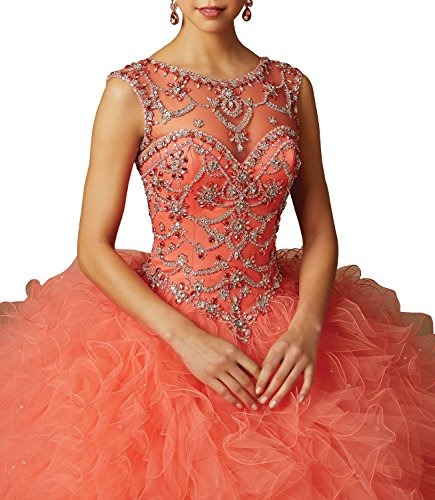 Fanciest Sweet 16 Ball Kleid Lang Cap Sleeve Beaded Abendkleider Ballkleid Quinceanera Kleid Pink Pink