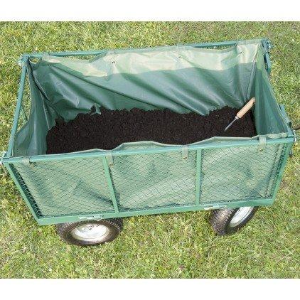 Bâche amovible pour chariot remorque de jardin