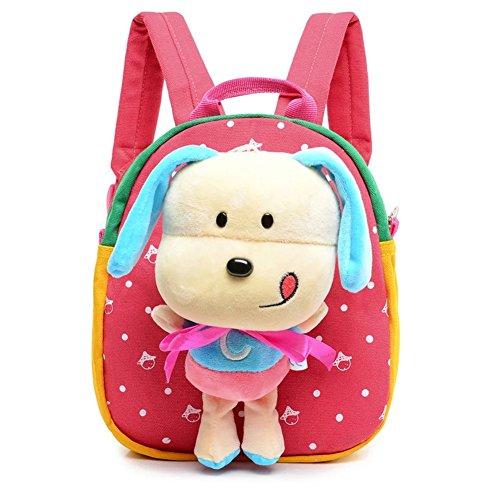flyingsky-3d-removable-puppy-doll-kids-backpack-animal-baby-boys-girls-kids-bag-red