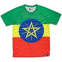 Camiseta Atletismo Etiopia Niño, Niña, Manga Corta, Running, Gimnasio #AdisaBeba Talla 12