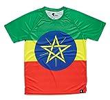 hoopoe running apparel T- Shirt Athlétisme Homme Ethiopien, Manches Courtes, Courir, Gymnase #AdisaBeba Taille S