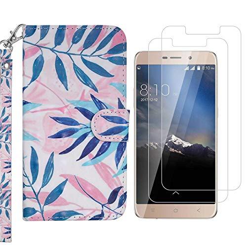 crisant Samsung Galaxy S8 Plus Hülle Blatt PU Leder Ständer Flip Brieftasche Schutzhülle Handyhülle Für Samsung Galaxy S8 Plus (6.2 Zoll) Mit Zwei gehärtetem Glas-Displayschutzfolie