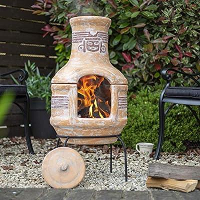 Oxford Barbecues Inca Clay Bbq Chiminea Patio Heater Grill from La Hacienda