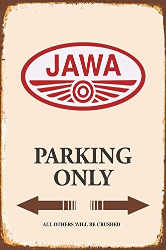 Jawa Parking only blechschild
