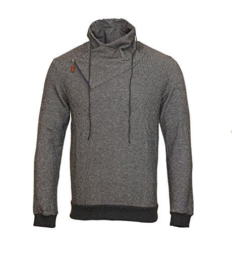 Pablo Malone by Poolman Jacke Sweater Longsleeve Pullover JH1402 106 Dark Grey HW16 Größe L