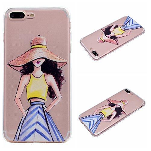 Qiaogle Téléphone Coque - Soft TPU Silicone Housse Coque Etui Case Cover pour Apple iPhone 5 / 5G / 5S / 5SE (4.0 Pouce) - QI12 QI18