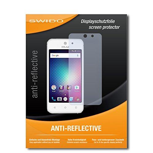 SWIDO Schutzfolie für BLU Vivo 5 Mini [2 Stück] Anti-Reflex MATT Entspiegelnd, Hoher Härtegrad, Schutz vor Kratzer/Bildschirmschutz, Bildschirmschutzfolie, Panzerglas-Folie