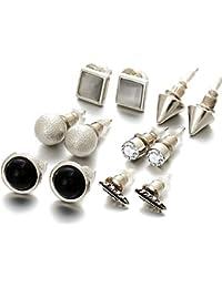a5800f4315c20b Shining Diva Fashion Silver Plated Stylish Fancy Party Wear Stud Earrings  For Women   Girls -