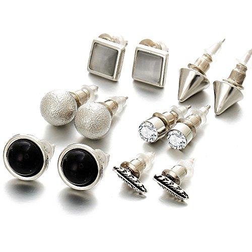 Shining Diva Fashion Silver Plated Stylish Fancy Party Wear Stud Earrings For...