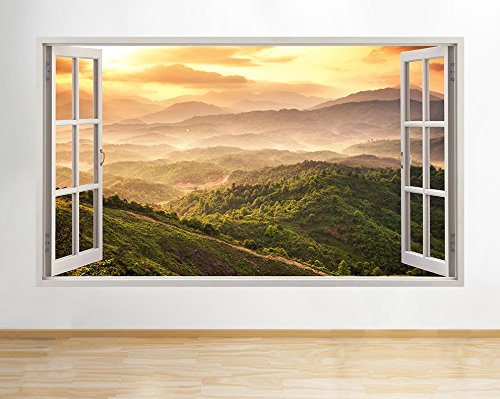 bezeichnung-b144-berge-wald-baume-natur-valley-wand-aufkleber-3d-poster-art-aufkleber-medium-52-x-30