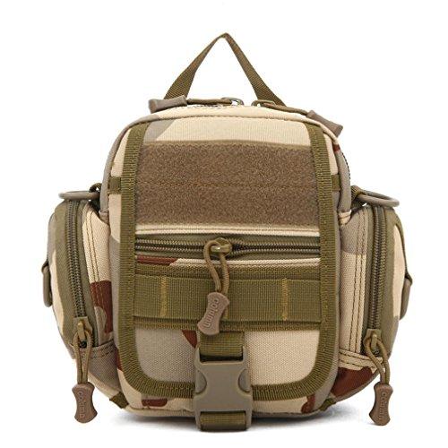 F@All'aperto auto equitazione sacchetto di nylon impermeabile, borse a spalla piccole verticale, gli appassionati di militari per appendere borse, borse a tracolla, borse, Digital Camo , desert three camouflage