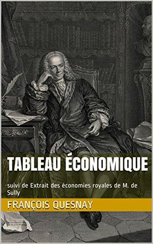 Tableau économique: suivi de Extrait des économies royales de M. de Sully