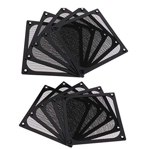 120mm Aluminium Lüfter Filter (perfk 10 Pcs Quadratisch Staubdicht Luftfilter Filter 120mm PC Case Lüfter Mesh Aluminium Lüfterstaubfilter)
