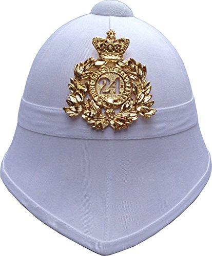 British Pith Helmet 24th Regiment of Foot – White